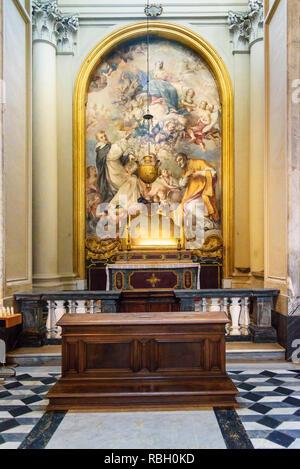 Rome, Italy - October 04, 2018: Interior of of Basilica di San Giovanni in Laterano - Stock Photo