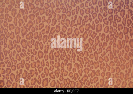 Leopard wild animal pattern background or texture, wallpaper concept colorful red and brown - Stock Photo