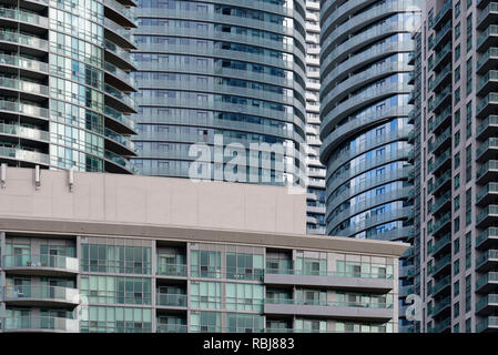 Densely packed high-rise apartment blocks in Toronto, Canada - Stock Photo
