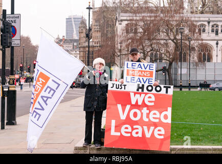 Westminster prior to meaningful vote 10th Jan 2019 - Stock Photo