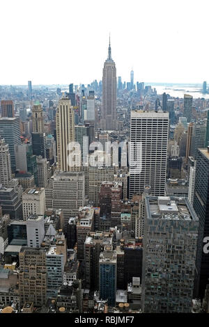Empire State Building Mid Town New York City NYC Manhattan Island Long Island USA United States of America