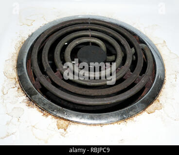 dirty stove top element - Stock Photo