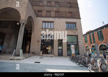 July 6, 2013. Italy city of Brescia. Old European city of Brescia in the Lombardy region in summer. - Stock Photo