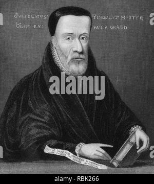 WILLIAM TYNDALE c 1494-1536) English Protestant leader who translated the4 Bible into English - Stock Photo