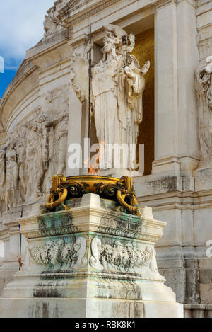Tomb of the Unknown Soldier at Vittorio Emanuele II Monument in Rome. Italy - Stock Photo
