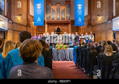 The June 2018 graduation ceremony of St Andrews University taking place in the Younger Hall, St Andrews, Scotland UK - Stock Photo