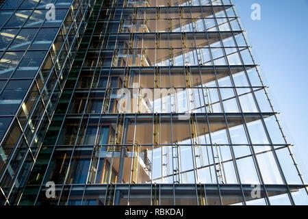 Gebäude der  LBBW, Landesbank Baden-Württemberg in Stuttgart, im Europaviertel, moderne Fassade, - Stock Photo