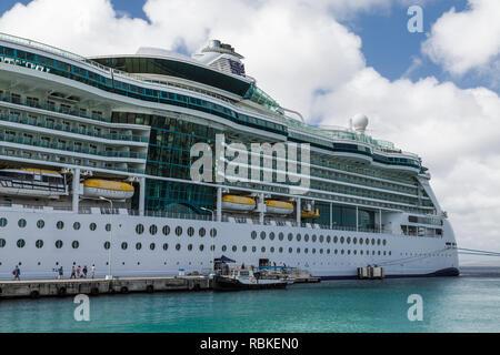 Tourists Boarding Serenade of the Seas - Stock Photo
