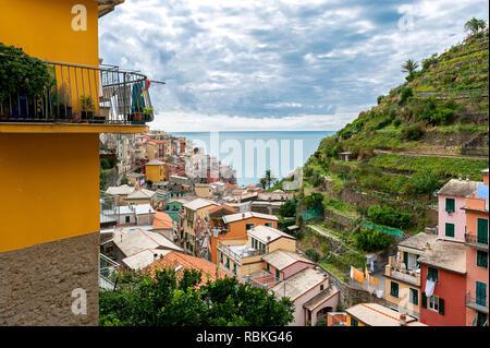 Overview of Manarolo, Italy - Stock Photo