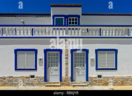Residential house in the Mediterranean style, Santa Luzia, Algarve, Portugal - Stock Photo