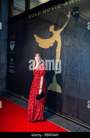 London, UK. 10th Jan 2019. Tamzin Merchant attends the 2019 'Gold Movie Awards' at Regent Street Cinema on January 10, 2019 in London, England Credit: Gary Mitchell, GMP Media/Alamy Live News - Stock Photo