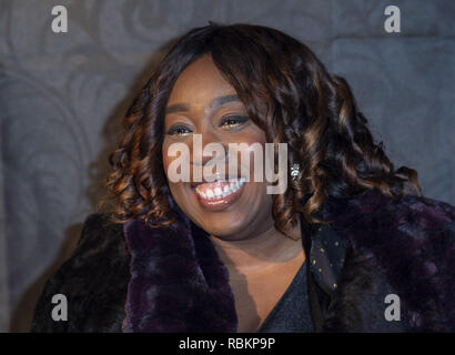 London, UK. 10th Jan, 2019. Chizzy Akudolu attends the 2019 Gold Movie Awards at Regent Street Cinema in London, England. Credit: Gary Mitchell/SOPA Images/ZUMA Wire/Alamy Live News - Stock Photo