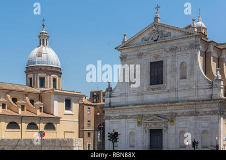 ROME, ITALY - JUNE 22, 2017: Amazing view of Chiesa di San Rocco all Augusteo in Rome, Italy - Stock Photo