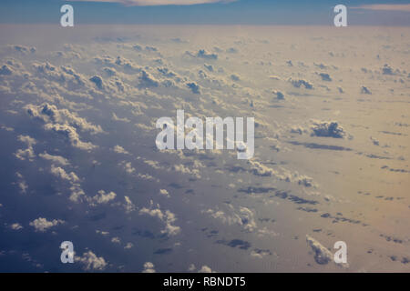 View from the airplane arriving to Cuba - Stock Photo
