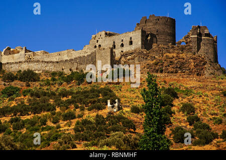Chapel, The Margat castle of the crusaders, Marqab. Syria, Middle East - Stock Photo