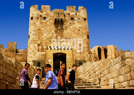 The Citadelle Fort. Aleppo. Syria, Middle East - Stock Photo