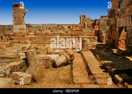 Baptistere, Serjilla. Syria, Middle East - Stock Photo
