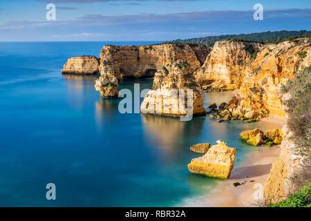 Praia da Marinha or Marinha Beach, Caramujeira, Lagoa, Algarve, Portugal - Stock Photo
