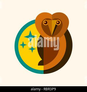 Wild Owl Logo Creative Design Vector Illustration - Stock Photo