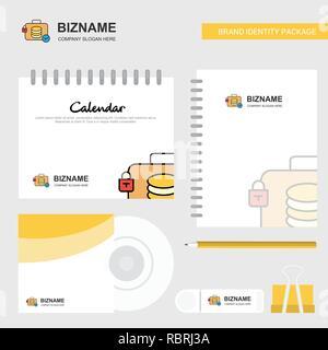 Database Logo, Calendar Template, CD Cover, Diary and USB Brand