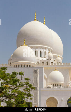 Abu Dhabi, United Arab Emirates, July 7, 2015: Sheik Zayed, Grand Mosque. - Stock Photo