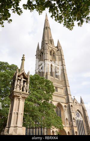 St Wulframs Church, Church Street, Grantham, Lincolnshire, England, United Kingdom - Stock Photo