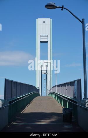 Ward Island Pedestrian Bridge in New York City - Stock Photo