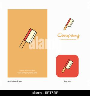 Butcher knife Company Logo App Icon and Splash Page Design. Creative Business App Design Elements