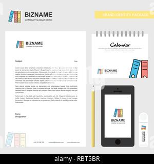Shared folder Business Letterhead, Calendar 2019 and Mobile app