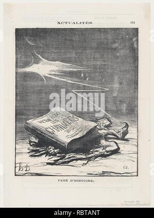 A page from history, from 'News of the day,' published in Le Charivari, November 16, 1870 - Stock Photo
