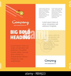 Whistle  Business Company Poster Template. with place for text and images. vector background - Stock Photo