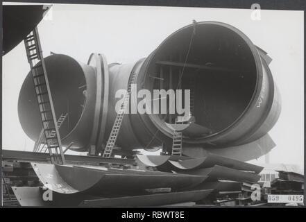 Aanleg windtunnel, Bestanddeelnr 059-0495. - Stock Photo