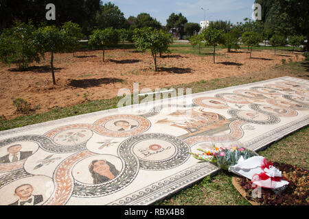 Memorial to the victims of the 2015 terrorist attack, Bardo National Museum, Tunis, Tunisia, Africa - Stock Photo