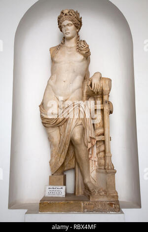 Statue of Apollo coming from the Carthage Theater 2th century AD, Bardo National Museum, Tunis, Tunisia, Africa - Stock Photo