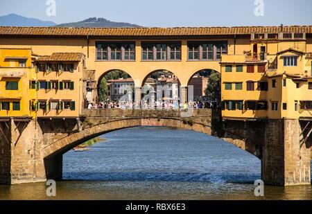 FLORENCE, ITALY- JULY 07, 2017: Ponte Vecchio, Florence, Italy - Stock Photo