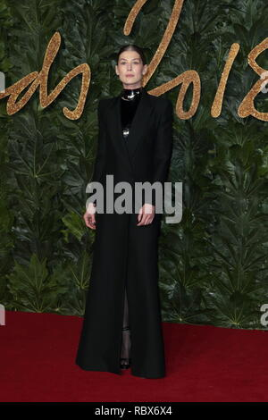 The British Fashion Awards at Royal Albert Hall - Arrivals  Featuring: Rosamund Pike Where: London, United Kingdom When: 10 Dec 2018 Credit: WENN.com - Stock Photo