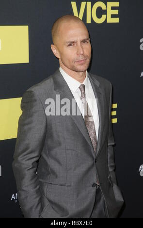 World premiere of 'VICE' at the Academy of Motion Picture Arts & Sciences Samuel Goldwyn Theater - Arrivals  Featuring: Sam Rockwell Where: Los Angeles, California, United States When: 11 Dec 2018 Credit: FayesVision/WENN.com - Stock Photo
