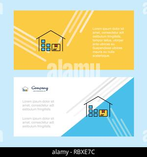 Warehouse abstract corporate business banner template, horizontal advertising business banner. - Stock Photo