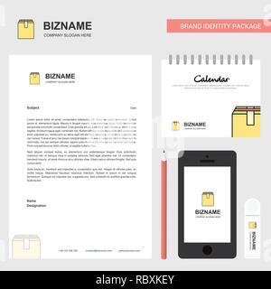 Database Business Letterhead, Calendar 2019 and Mobile app design