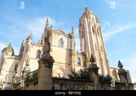 Segovia, Spain - April 26, 2008: Cathedral of Segovia. Catedral de Santa Maria de Segovia, Castilla y Leon, Spain - Stock Photo