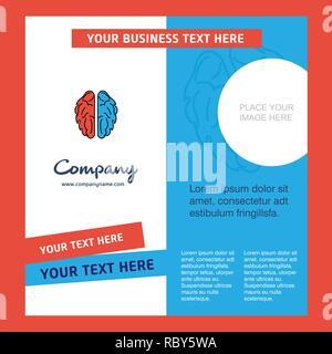 Brain  Company Brochure Template. Vector Busienss Template - Stock Photo