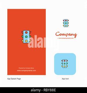 Traffic signal Company Logo App Icon and Splash Page Design
