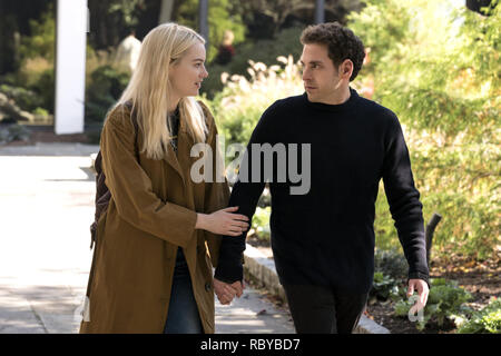 Maniac is an American psychological dark comedy-drama web television miniseries that premiered on September 21, 2018, on Netflix. It was created by Patrick Somerville and directed by Cary Joji Fukunaga based on the Norwegian television series of the same name by Espen PA Lervaag,     This photograph is for editorial use only and is the copyright of the film company and/or the photographer assigned by the film or production company and can only be reproduced by publications in conjunction with the promotion of the above Film. A Mandatory Credit to the film company is required. The Photographer  - Stock Photo