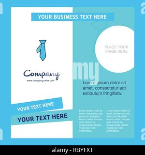 Tie Company Brochure Template. Vector Busienss Template - Stock Photo