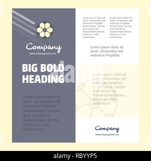 Football  Business Company Poster Template. with place for text and images. vector background - Stock Photo