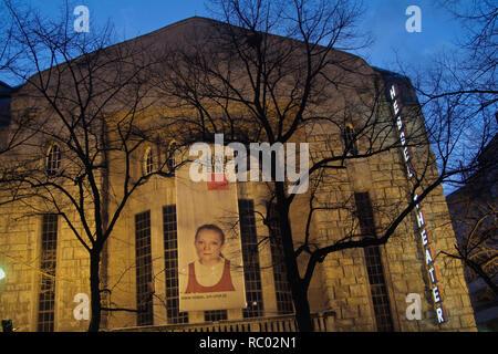 Hebbel-Theater, Hau eins, Jugendstilbau von Theaterarchitekt Oskar Kaufmann, 1907/08, Stresemannstraße, Berlin-Kreuzberg, Deutschland, Europa | Hebbel - Stock Photo