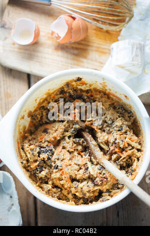 Christmas pudding butter in bowl - Stock Photo