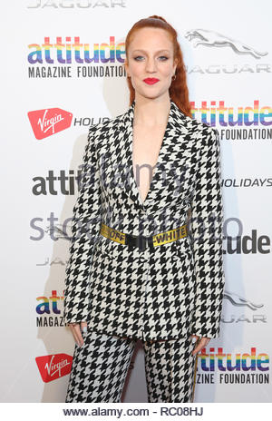 EDITORIAL USE ONLY File photo dated 11/10/2018 of Jess Glynne who is among the nominees for this year's Brit awards. - Stock Photo