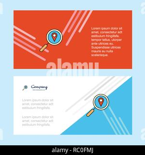 Search location  abstract corporate business banner template, horizontal advertising business banner. - Stock Photo