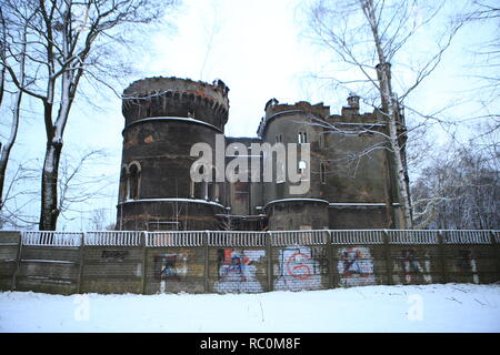 Schloss Ruine Tiele-Winckler in Beuthen -Oberschlesien ( Bytom ) Poland - Stock Photo